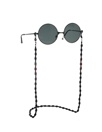 Black Non-slip Beaded Glasses Chain