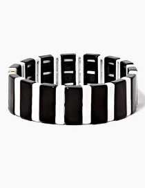 Black Long Strip Alloy Paint Bracelet