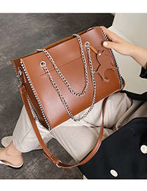 Fashion Cross-brown Chain Shoulder Messenger Bag