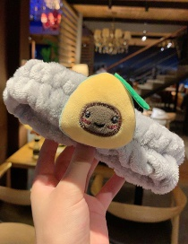 Grey Avocado Plush Cartoon Hair Band  Cloth