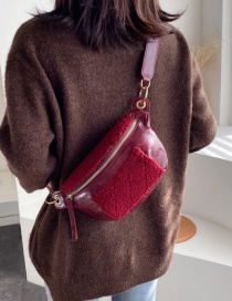 Fashion Red Wine Chain Shoulder-slung Chest Bag