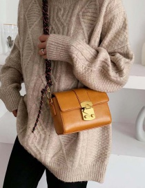 Fashion Yellow Lock Single Shoulder Messenger Bag