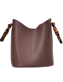 Fashion Brown Splicing Contrast Color Shoulder Messenger Bag