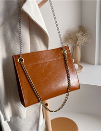 Fashion Brown Chain Shoulder Messenger Bag