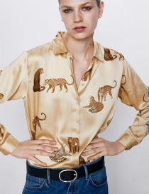 Fashion Color Animal Print Shirt