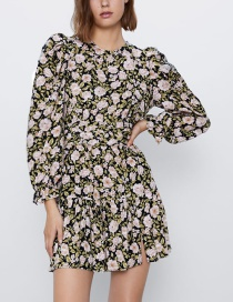 Fashion Color Flower Print Dress