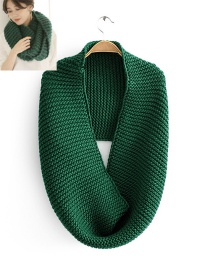 Fashion Dark Green Knitting Bib Around Two Turns