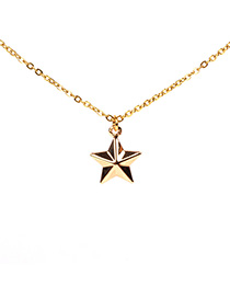 Fashion Golden Hollow Star Necklace