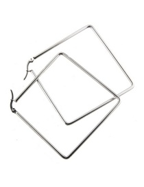 Fashion Platinum-plated Stainless Steel Square Earrings