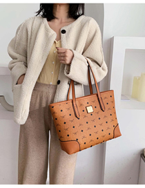 Fashion Brown Printed Shoulder Cross-body Bag