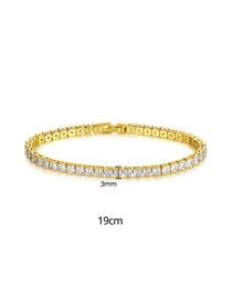Fashion 19cm18k Gold Cubic Zirconia Bracelet