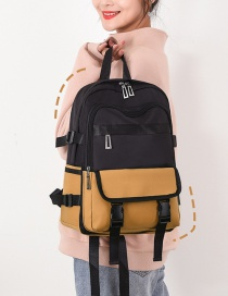 Fashion Yellow Contrast Stitching Backpack