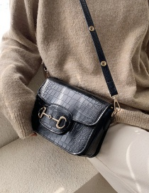 Fashion Black Crocodile Shoulder Bag