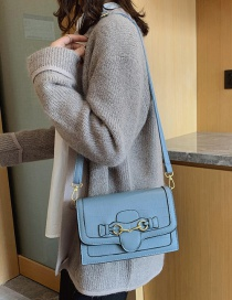 Fashion Blue Stone Shoulder Crossbody Bag