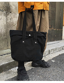 Fashion Black Washed Canvas Shoulder Bag