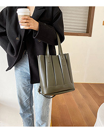 Fashion Green Pleated Panel Shoulder Bag