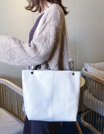 Fashion White Patch Circle Shoulder Bag