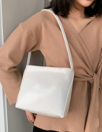 Fashion White Solid Shoulder Shoulder Bag