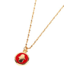 Fashion Red Dripping Palm Round Necklace