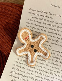 Fashion Gingerbread Man Wool Gingerbread Man Contrast Color Brooch