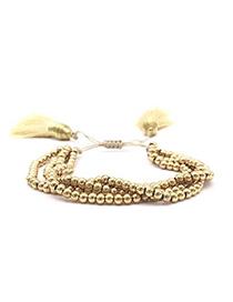 Fashion Golden Ball Bead Tassel Bracelet