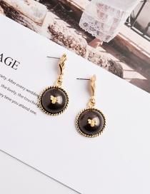 Fashion Black Alloy Pearl Earrings