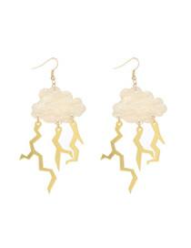 Fashion Ordinary Earhook Acrylic Lightning Clouds Earrings