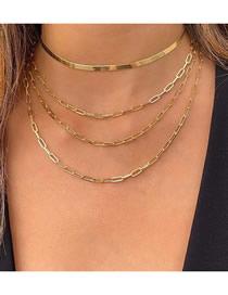Fashion Golden Multi-layer Chain Necklace