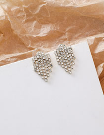 Fashion Golden Stud Earrings With Diamonds