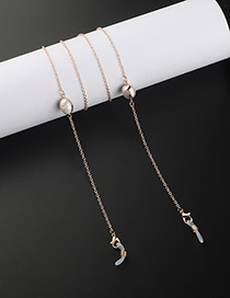 Fashion Golden Freshwater Pearl Glasses Chain