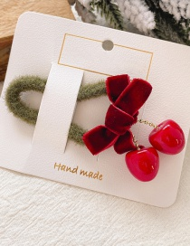 Fashion 12 # Red Bow Hair Rope Bow Child Cherry Hair Rope