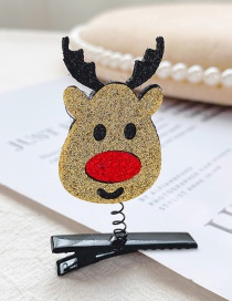 Fashion Golden Fawn Christmas Deer Child Spring Hair Clip