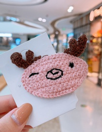 Fashion Pink Fawn Fawn Hits Children's Hairpin
