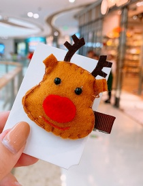Fashion Deer Head Christmas Elk Child Hair Clip