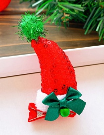 Fashion Red Hat-bow Christmas Hat Bow Bell Child Hairpin