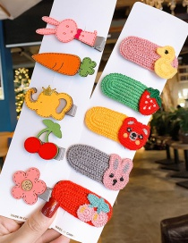 Fashion Recommended By The Manager (collection Plus Purchase Priority Delivery) Rabbit Radish Elephant Flower Children Hair Clip Set