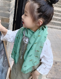 Fashion Green Cactus Children Scarf