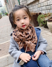 Fashion Coffee Color Polka Dot Children's Scarf