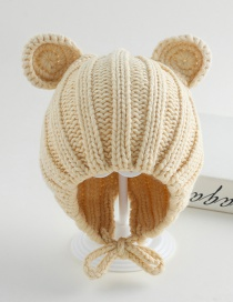 Fashion Armygreen Ear Band Baby Hat
