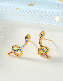 Fashion Snake Diamond Snake Earrings