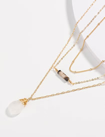 Fashion Natural Water Drops Irregular Water Drop Multilayer Necklace