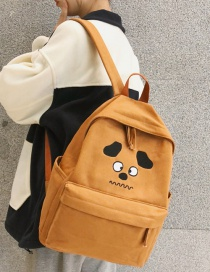 Fashion Brown Printed Puppy Backpack