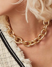 Fashion Golden Oval Chain Necklace