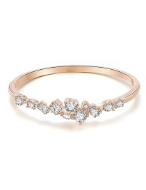 Fashion Rose Gold Geometric Bangle Bangle With Diamonds
