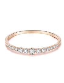 Fashion Rose Gold Alloy Round Bracelet With Diamonds