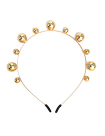 Fashion Large Pearl Gold Size Gold Beads Fine Hair Hoop