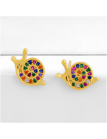 Fashion Color Snail Stud Earrings