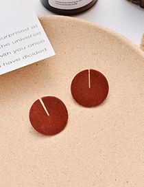 Fashion Orange Geometric Round Flocking Earrings