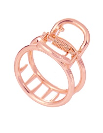 Fashion Rose Gold Round Hollow Grab Clamp