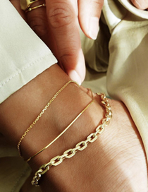 Fashion Golden Chain Anklet Set